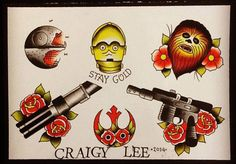 star wars tattoo flash - Google Search