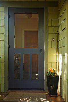screen door, Woodland shade garden Mill Valley Tom Kubik ; Gardenista