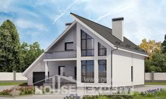200-007-L Two Story House Plans with mansard roof with garage in back, classic Floor Plan