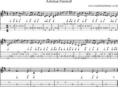 Mandolin Tab and Sheet Music for Ashokan Farewell