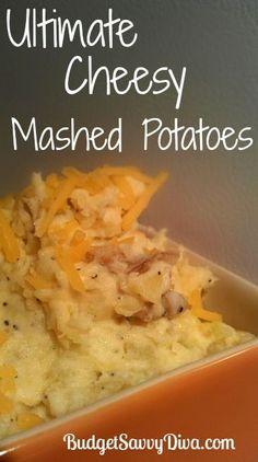 Ultimate Cheesy Mashed Potatoes, #Cheesy, #Gluten, #MashedPotatoes, #Potatoes