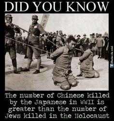 Japanese Killed more Chinese then Nazi Killed Jews