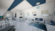 Attic Mika - Living room - by Rose Hdz