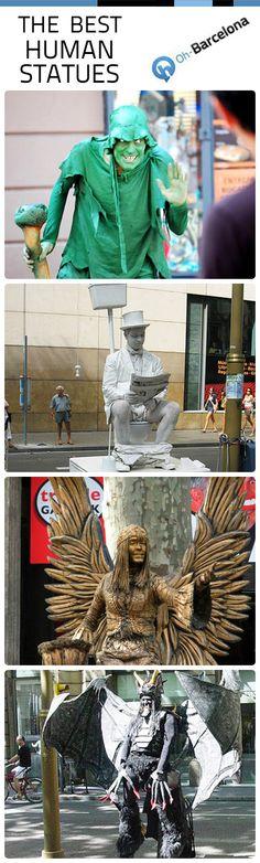 Human Statues in Las Ramblas... Classic!