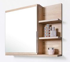Bathroom Mirror Cabinet, Decoration, Shelves, Home Decor, Amazon Fr, Furniture, Dom, Superman, Bathroom Mirror With Shelf