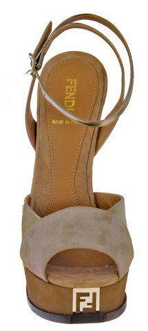 Fendi Fendista Colorblock Ankle Strap Platform Sandal