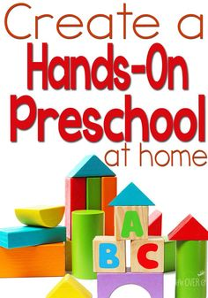 Prepare a hands-on preschool with these very practical and doable tips!