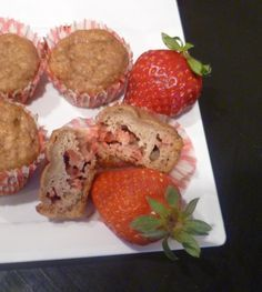 Strawberry banana muffins for baby