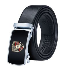 Luxury Designer Car Fashion Buckle Leather Brand Belts for Men Alloy Automatic Cowhide Leather Strap Belt Black Leather Belt, Leather Belts, Cowhide Leather, Gold Belt Buckle, Buckle Jeans, Belt Buckles, Porsche, Designer Belts, Luxury Designer