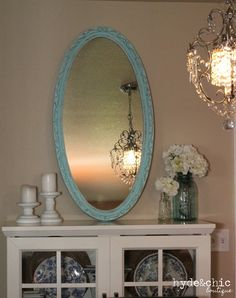 Shabby Chic Decor / Distressed / Large Oval by hydeandchicboutique, $99.99