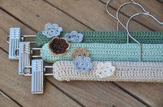 Crochet hanger covers