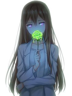 Anime girl oh my god a toxic flower that is so freaking cool! #mangaart
