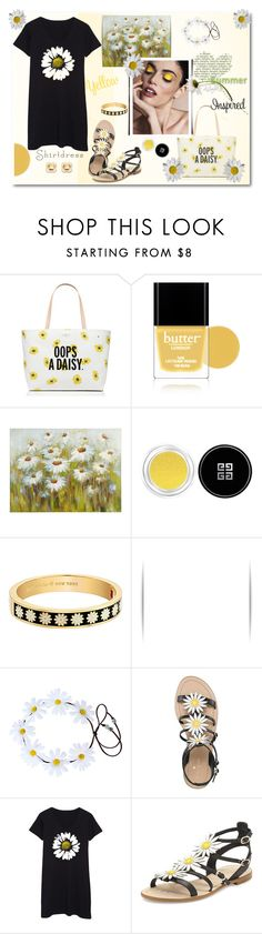 """""""Oops a Daisy, shirtdress..... #katespade #zulilly.com #yellow #daisy #summer #polyvore"""" by fashionlibra84 ❤ liked on Polyvore featuring Kate Spade, Butter London, Pier 1 Imports, Givenchy and Orla Kiely"""