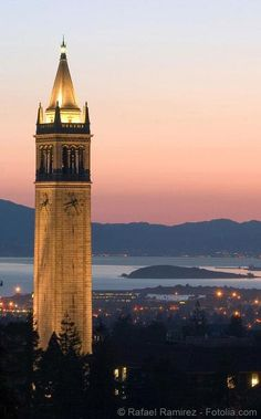 Sather Tower on the campus of the University of California, Berkeley.