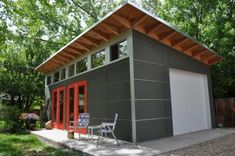 A backyard backyard studio is usually a shed or granny flat you put to good purpose by building or renovating it to serve as a studio. A backyard studio can be a better solution than converting a spare bedroom or… Continue Reading → Shed Office, Backyard Office, Backyard Studio, Backyard Sheds, Garden Sheds, Cozy Backyard, Plan Garage, Garage Shed, Garage Doors