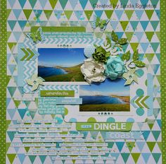 'The Dingle Coast' layout Linda Eggleton Design Team member Kaisercraft using New POP Collection - Wendy Schultz~ Scrapbook Pages Scrapbook Blog, Scrapbook Designs, Scrapbooking Layouts, Scrapbook Pages, It's Your Birthday, Birthday Cards, Pop Stickers, Party Gift Bags, Pop Collection