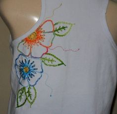 Camiseta Flores | Juia Artes | Elo7