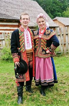 FolkCostume&Embroidery: Folk Costume of the Lachy, part 1, Overview and Podegrodzie men. Malopolska, Poland Polish Clothing, Polish Folk Art, Costumes Around The World, Art Populaire, Ethnic Dress, Festival Dress, Folk Costume, Ukraine, Ethnic Fashion
