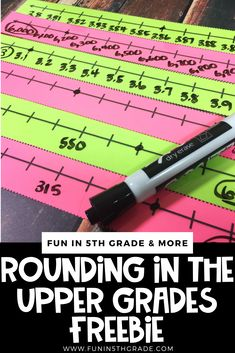 Teaching rounding can be tricky, especially if your students don't have a firm grasp on it!  This blog post includes tips and activities on how to teach rounding in the upper grades and includes a FREEBIE to help you!  Angie from Fun in 5th grade describes how she introduces and teaches rounding using anchor charts, number lines, post it notes, games and more!