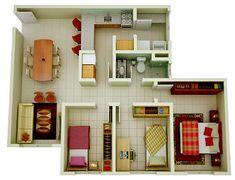 plantas de casa com 3 quartos 1 andar - Pesquisa Google