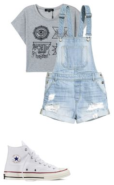 """""""Meg stay-at-home"""" by planeta-janeta56903 on Polyvore featuring H&M and Converse"""