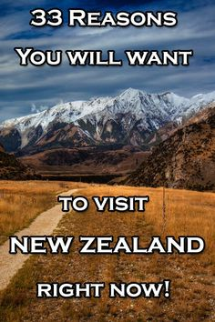 33 Reasons you will want to Visit New Zealand right now | The Planet D - And I can add some of mine: http://www.zigzagonearth.com/best-photos-new-zealand/