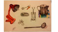 8 estudo objetos metálicos
