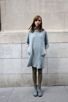 boboutic wool tunic. Winter dress up.
