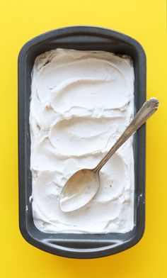 AMAZING 5 Ingredient Vanilla Coconut Ice Cream! Incredibly simple, perfectly sweet, INSANELY creamy! Vegan, gluten-free, dairy-free.