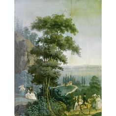 "Set of Panoramic Wallpaper Panels ""The Bay of New York"" from Vues d'Amérique du Nord, Zuber et Cie, Rixheim, France, 19th Century - Sotheby's"