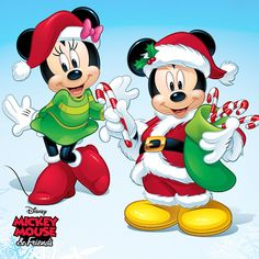 There's no pair more timeless, magical or marvelous than everyone's favorite mouse match. It's Disney's Mickey and Minnie, of course! Shop this collection featuring the famous couple on apparel, décor and more. Minnie Mouse Cartoons, Mickey Mouse And Friends, Disney Christmas Decorations, Christmas Art, Mickey Mouse Wallpaper, Disney Wallpaper, Image Mickey, Minnie Mouse Christmas, Disney Cartoon Characters