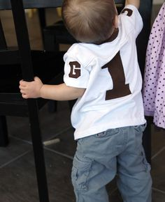 how to make a football jersey....cute, might need one for myself!