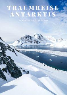 Eine Reise an die Antarktis lohnt sich auf jeden Fall. Was ihr dort alles spannendes erleben könnt, gibt es zum Nachlesen im Artikel - Reiseblog Lilies Diary. #antarctica #antarktis #iceberg #pinguine #bucketlist #travelblogger