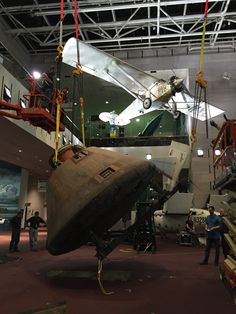 August 13, 2015: Houston, the #Apollo11 Command Module Columbia has landed! Last night, we moved Columbia off its exhibition stand as part of ongoing renovations to the Boeing #MilestonesofFlight Hall. See it upright for the first time in nearly 40 years at our Museum in DC.