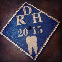 Dental Hygiene Graduation Cap Rdh Dental Hygiene