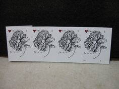 >4 Embossed Rose Stamps<1