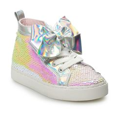 ee4372e581bd JoJo Siwa Sequin Girls  High Top Sneakers
