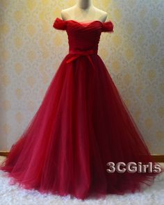 Purple prom dress, ball gown 2016, Ready to be a queen in the dnace? go -> http://www.3cgirls.com/#!product/prd1/4243854115/amazing-winered-off-shoulder-tulle-prom-dress%2Cgown
