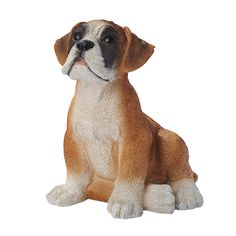 Boxer Puppy Dog Figurine