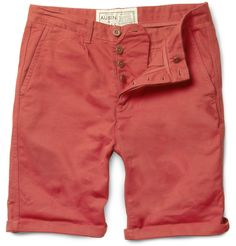 AUBIN & WILLS - ABALLAY STRAIGHT-LEG COTTON-TWILL SHORTS