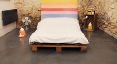 Sol de chambre en enduit déco Béton Ciré coloris Acier www.lesbetonsdeclara.fr #betoncire #chambre #deco #sol #interieur #maison