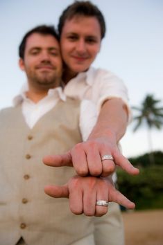 Joe D'Alessandro Photography - Hawaii Photographers - Same-sex wedding photo with focus on wedding bands