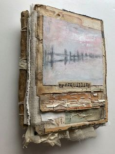 Tranquillity spine journals Junk Journal and how to use up your stash! Kunstjournal Inspiration, Art Journal Inspiration, Handmade Journals, Handmade Books, Handmade Notebook, Handmade Rugs, Handmade Crafts, Artist Journal, Art Journal Pages