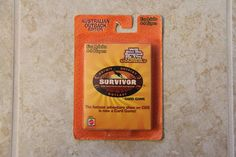 $7 Survivor Card Game - The Australian Outback - Outwit, Outplay, Outlast! CBS Show #Mattel
