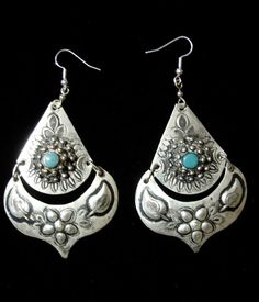 Moroccan Berber silver colour earrings by HilarysBazaar on Etsy, $12.00