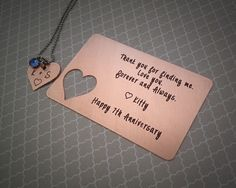 7th Wedding Anniversary Gift Ideas For Him Uk : 7th Anniversary Gifts on Pinterest Copper Anniversary Gifts ...