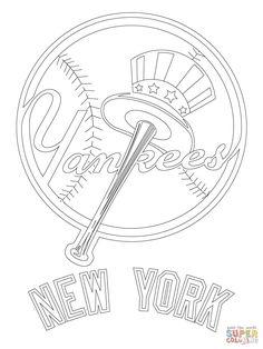 New York Yankees Baseball Coloring Page At Yescoloring Com