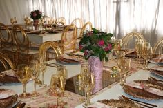 Baby Showers Gold and Pink Baby Showers, Wedding Decorations, Crown, Pink, Gold, Fashion, Moda, Corona, Fashion Styles