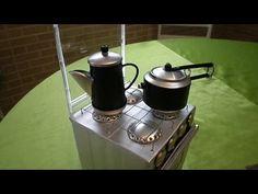 Como Fazer fogão de latinhas e caixa de leite, tutorial 01 - YouTube