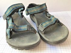 Teva Size 13 Sandal EU 31 Kids Blue Yellow Water Shoes Hiking Active Youth #Teva #WaterShoes